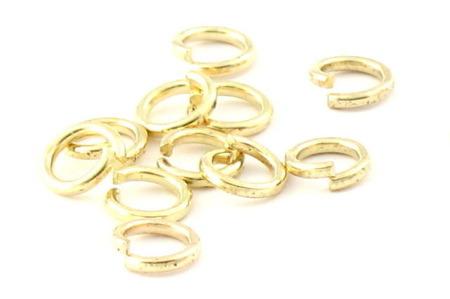 Kółeczka Ogniwka Ogniwko Montażowe Kc Gold Złoty 8mm 1szt