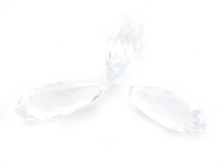 Kryształki Akrylowe Szlifowane Lodowe Teardrop Crystal 34mm 1szt