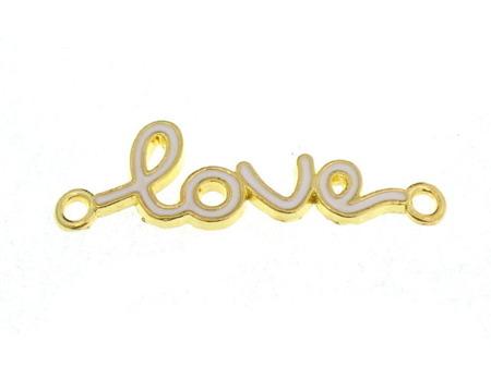Łącznik Zawieszka Złoty Love 39x12mm 1szt