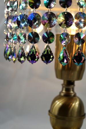 Zawieszka Kryształki na Abażur Żyrandol Lampę Crystal AB 11cm 1szt